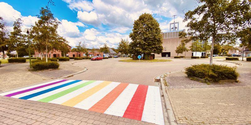 Regenboogzebrapad Beernem