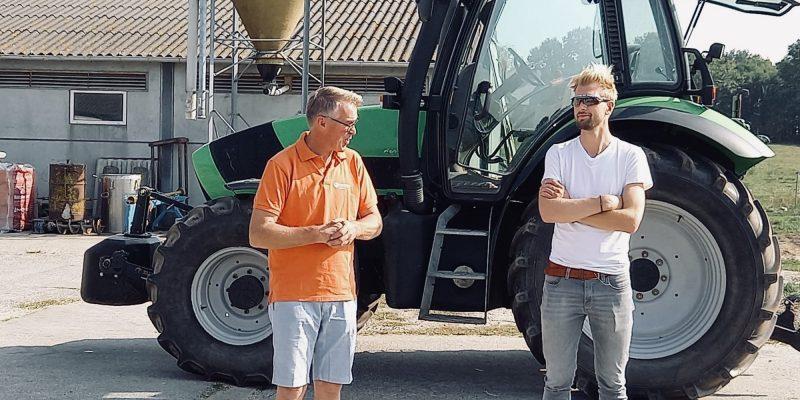 Ruben Van Gucht op bezoek bij familie Cobbaert in Beernem