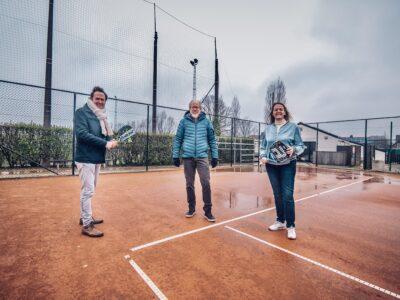 Jos Sypré, Chris Wegsteen en Patricia Waerniers Padel Oedelem, Beernem